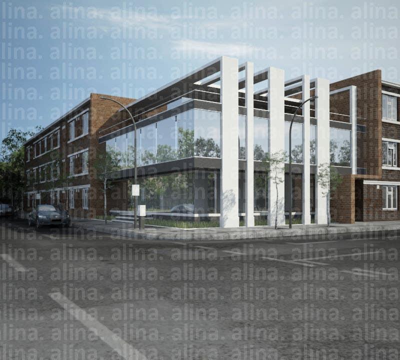 Participación en el concurso Nro.                                        18                                      para                                         Elevations for an office building