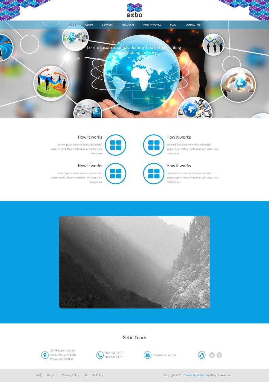 Kilpailutyö #7 kilpailussa Design a website mockup for a software company