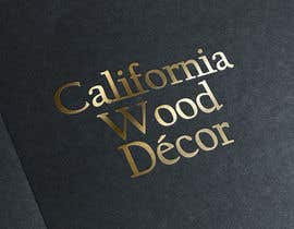 #33 for Design a Logo for California Wood Decor by scchowdhury