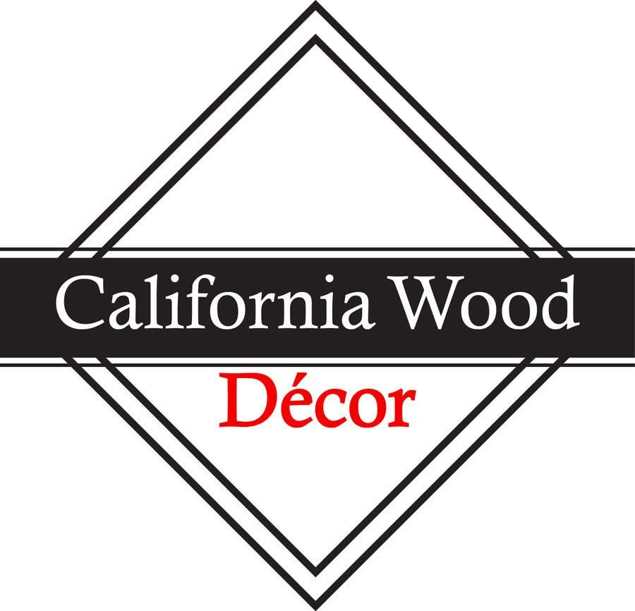 Konkurrenceindlæg #                                        54                                      for                                         Design a Logo for California Wood Decor