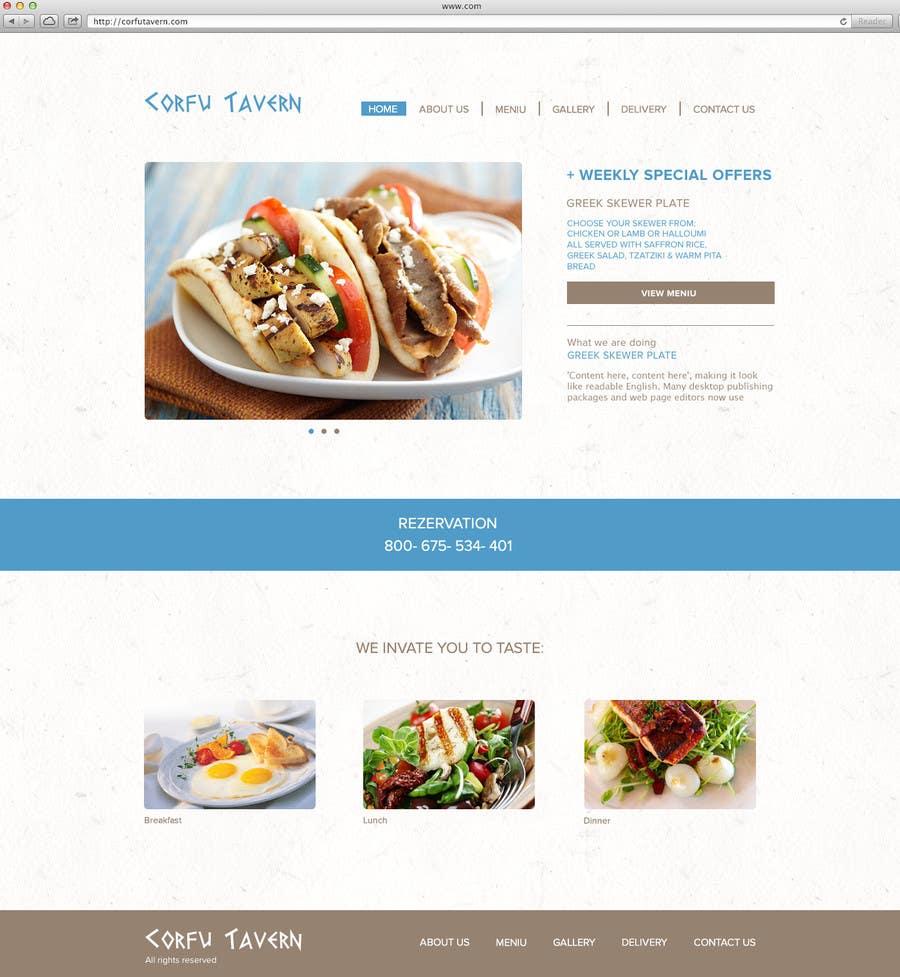 Konkurrenceindlæg #                                        11                                      for                                         Design for homepage Greek Traditional Tavern
