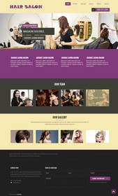 #6 for One page website for hair salon by zicmedia