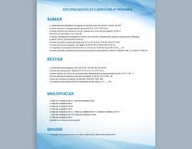 #16 for Graphic designer is needed to create a 2 page list design of math exercises. by haseebmughal0