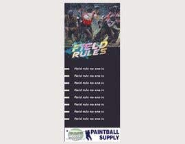 nº 18 pour PAINTBALL RULES Banner Layout (Tough, Diamondplate, grunge, etc) par maaansaab