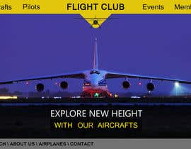#48 för Design a FUN and AWESOME Aviation Website Design for Flight Club av giorgadzeoto
