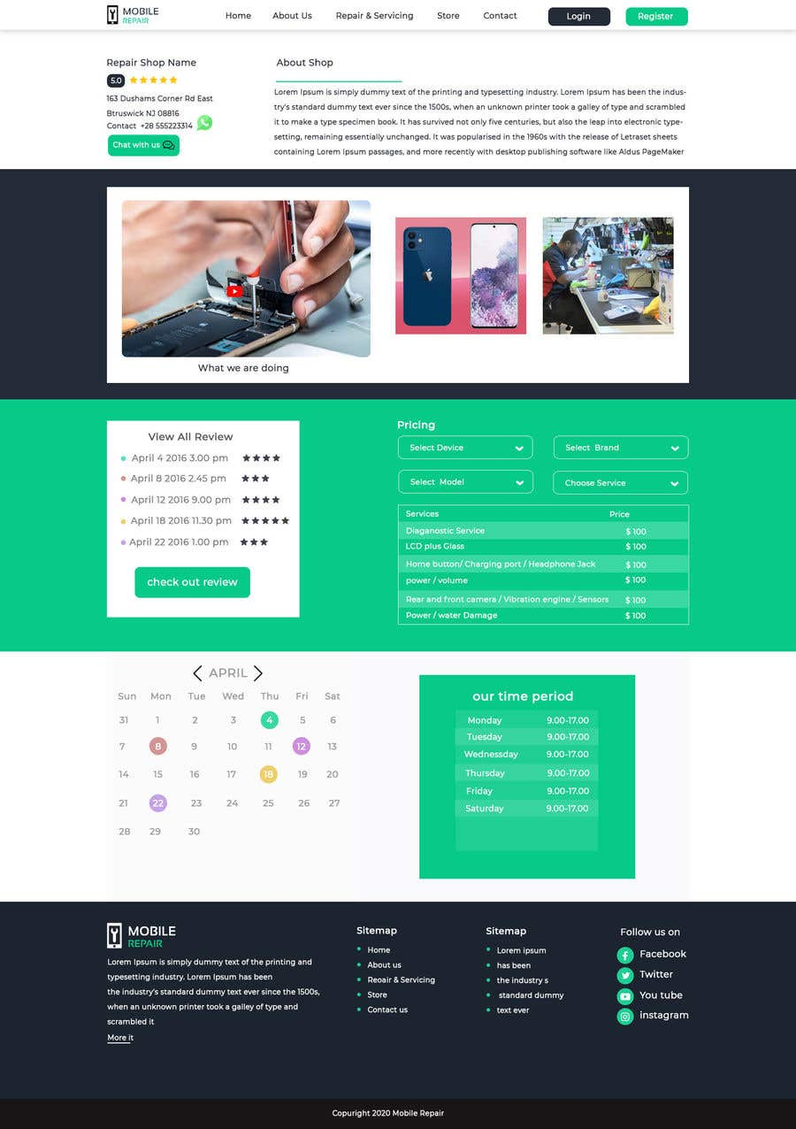 Contest Entry #                                        17                                      for                                         UX design 5 pages