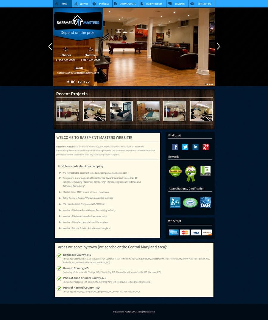 Inscrição nº 41 do Concurso para Design mockup for basementmasters.com