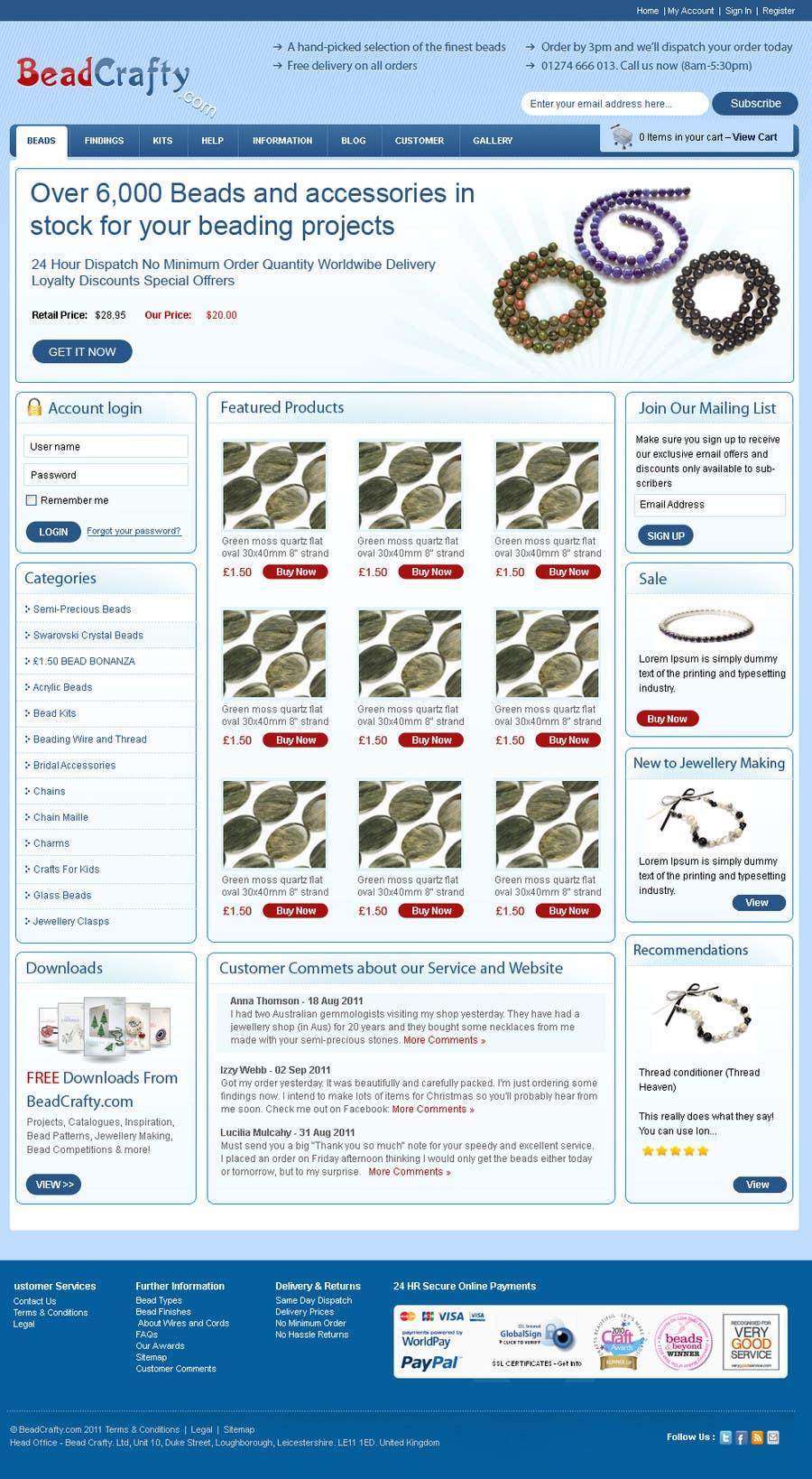 Konkurrenceindlæg #                                        22                                      for                                         Website Design for BeadCrafty.com