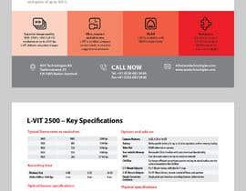 Nro 93 kilpailuun New leaflet/datasheet/brochure design for our products käyttäjältä onecameraman