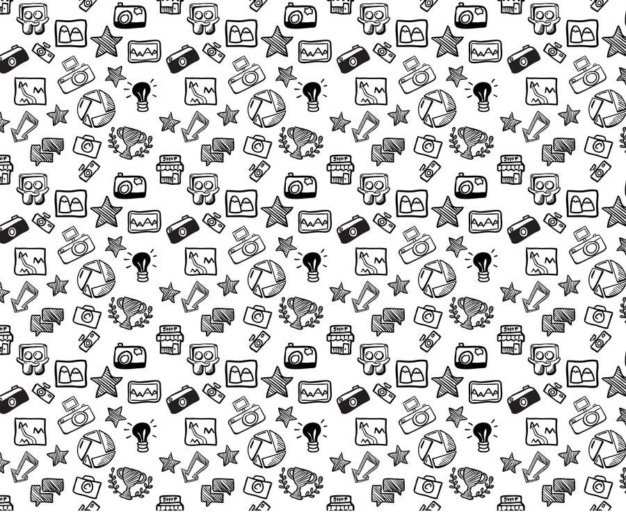 Konkurrenceindlæg #                                        1                                      for                                         Seamless Doodle Style Pattern (Photography Related)