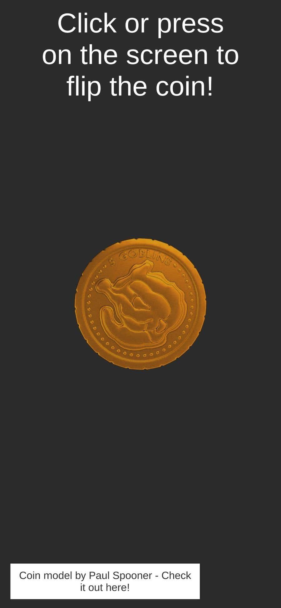 Penyertaan Peraduan #                                        10                                      untuk                                         Make me a cool coin flipping app for Android