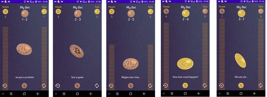 Penyertaan Peraduan #                                        23                                      untuk                                         Make me a cool coin flipping app for Android