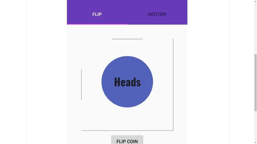 Penyertaan Peraduan #                                        2                                      untuk                                         Make me a cool coin flipping app for Android