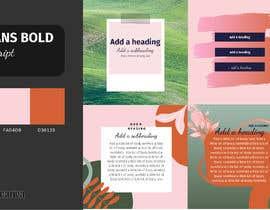 #5 สำหรับ Color palette, heading, subheading and body text font and 5 instagram templates in Canva โดย pergeo