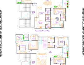 #47 untuk Redesign the architectural drawing of a duplex flat oleh RhythmSeth
