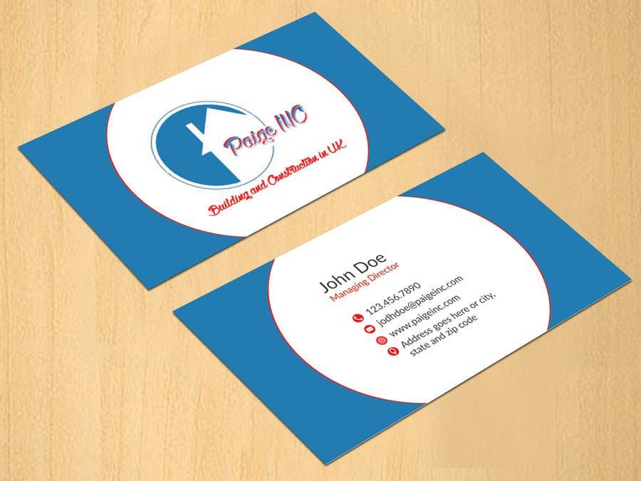 Konkurrenceindlæg #                                        39                                      for                                         Concevez des cartes de visite professionnelles for Paige Inc