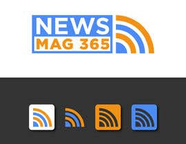 ansardeo tarafından Urgently required very sleek and eligent designed logo and favicon for my website which is based on online news => website brand name is News Mag 365 so i am looking for logo and favicon for it in 3 colors için no 32