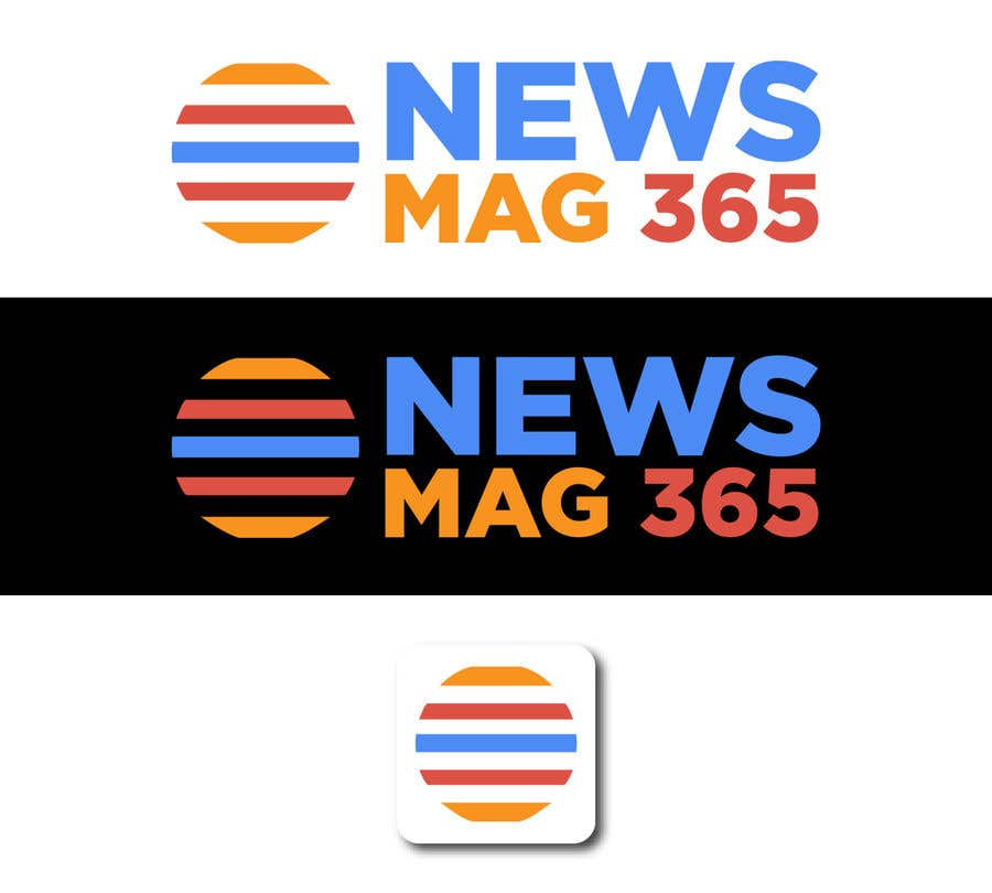 Penyertaan Peraduan #                                        57                                      untuk                                         Urgently required very sleek and eligent designed logo and favicon for my website which is based on online news => website brand name is News Mag 365 so i am looking for logo and favicon for it in 3 colors