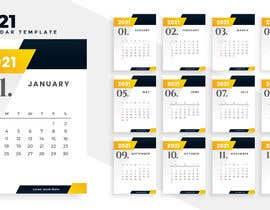 Nro 204 kilpailuun A4 format calendar 2021 käyttäjältä hossainahmed360