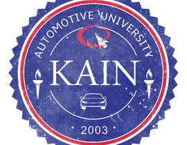 #21 para Design for a t-shirt for Kain University using our current logo in a distressed look de Mishka2013
