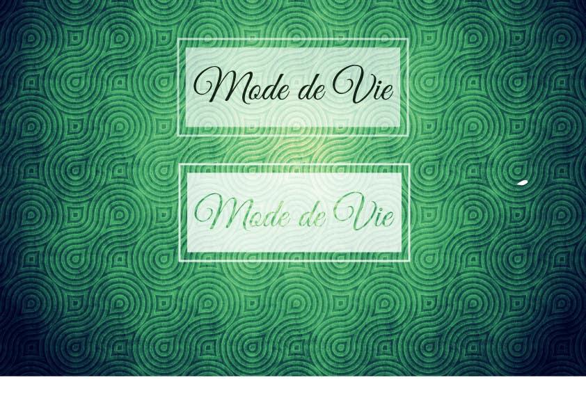 Contest Entry #                                        14                                      for                                         Design A Logo For Brand Name: Mode de Vie