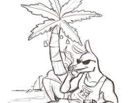 #3 for Design a stoner Kangaroo on the beach Christmas T-Shirt by nugrahanugraha