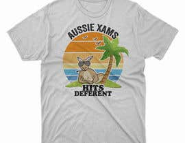 #45 for Design a stoner Kangaroo on the beach Christmas T-Shirt by DesignerARS