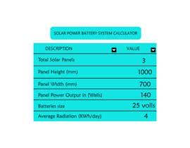 #17 for Solar Savings Calculator by fatimaC09