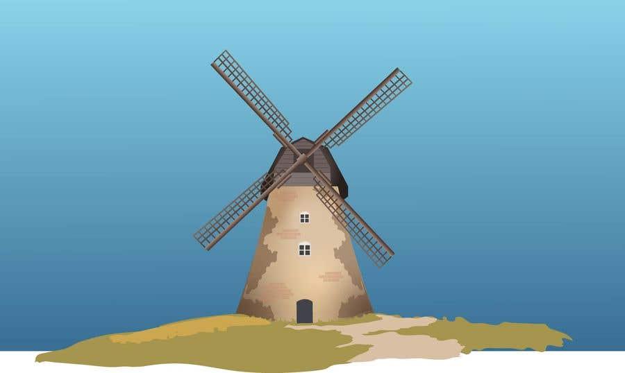 Bài tham dự cuộc thi #                                        15                                      cho                                         Illustrate and Animate Original Old-Fashioned Windmill