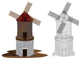 #18 untuk Illustrate and Animate Original Old-Fashioned Windmill oleh gadzstudio