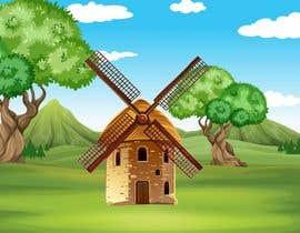 #32 untuk Illustrate and Animate Original Old-Fashioned Windmill oleh Tounsiadem