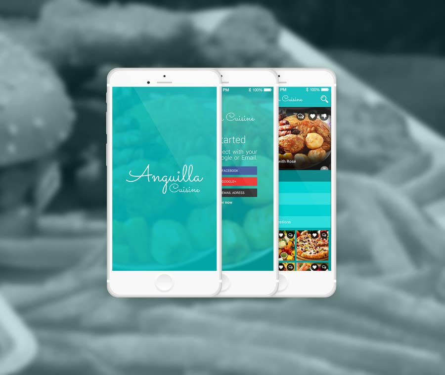 Contest Entry #                                        16                                      for                                         Anguilla Cuisine App UI Mockup