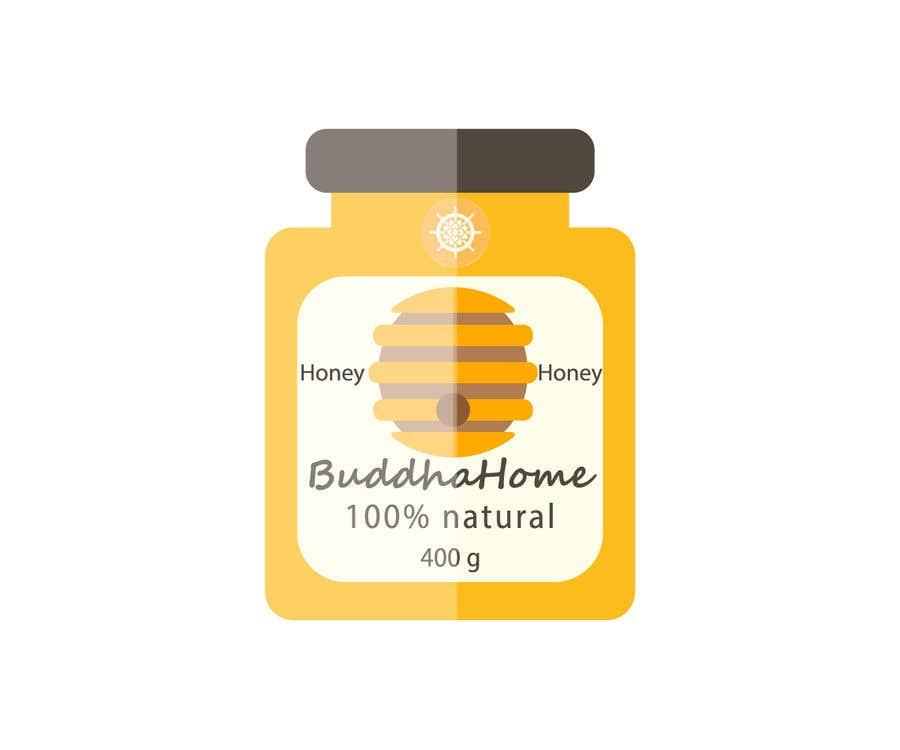 Kilpailutyö #                                        108                                      kilpailussa                                         Honey Label Designing Contest