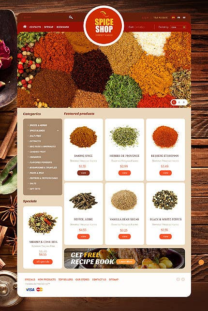 Contest Entry #                                        15                                      for                                         Design for a completely new online shop, selling spices -- 2