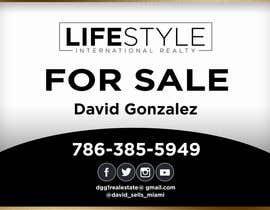 #48 untuk David Gonzalez - For Sale Sign oleh AbodySamy