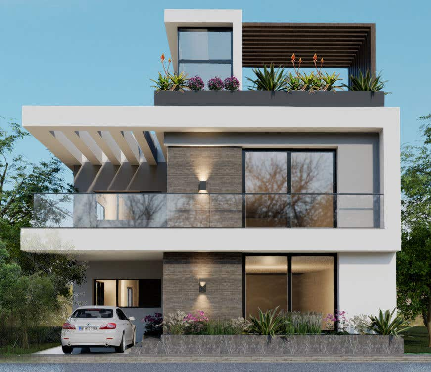 Bài tham dự cuộc thi #                                        18                                      cho                                         3D Modern Elevation of house and suggest any improvement in map