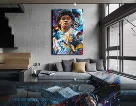#100 for Diego maradona graffiti canvas art by YamGraphics2017
