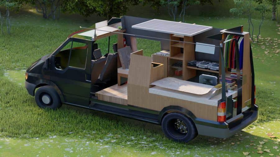 Penyertaan Peraduan #                                        2                                      untuk                                         Interior design (Artist impression) for a Car (Van)
