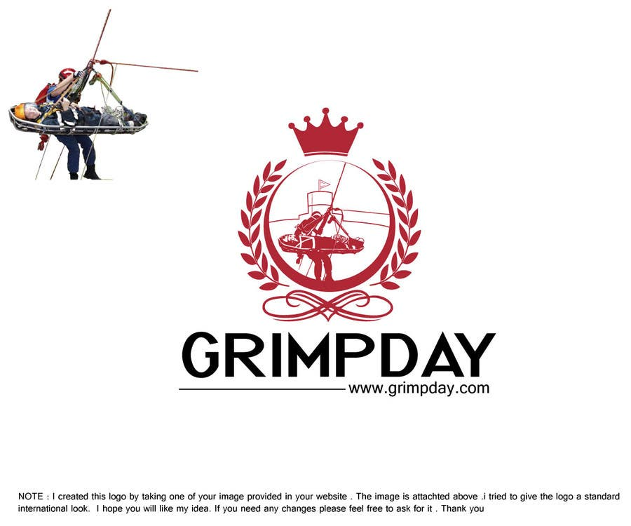 Contest Entry #42 for Logo for the Grimpday an firemen organisation
