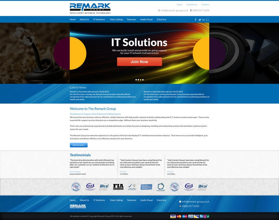 #13 for Website Design for IT Company by deevan