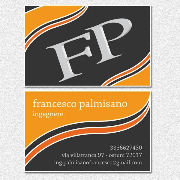 Konkurrenceindlæg #                                        9                                      for                                         Business Card Design for francesco palmisano ingegnere