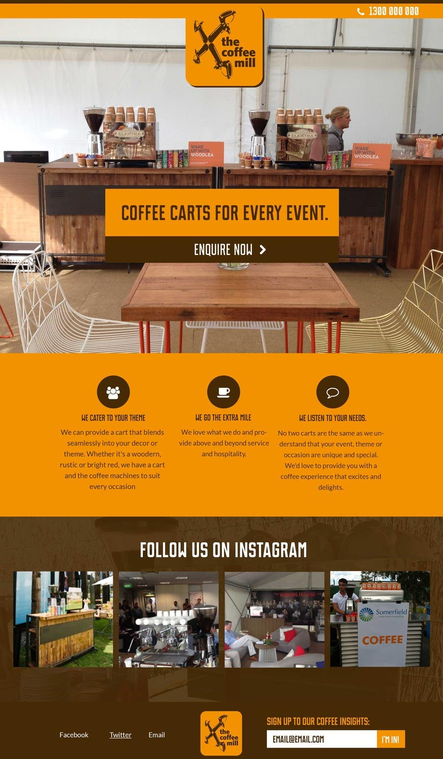 Contest Entry #8 for Design a Website Mockup for a Mobile Coffee Business