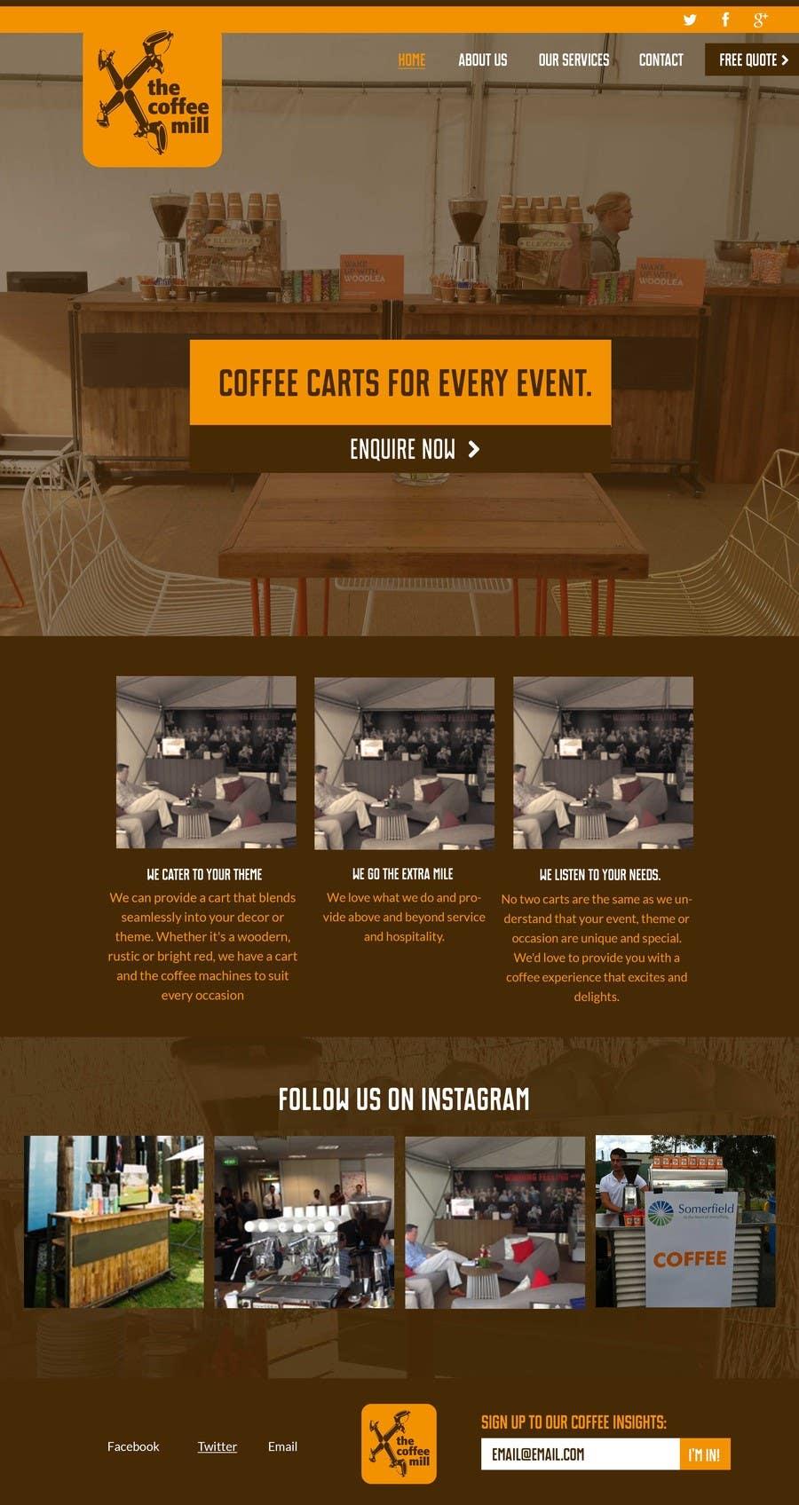Konkurrenceindlæg #                                        11                                      for                                         Design a Website Mockup for a Mobile Coffee Business