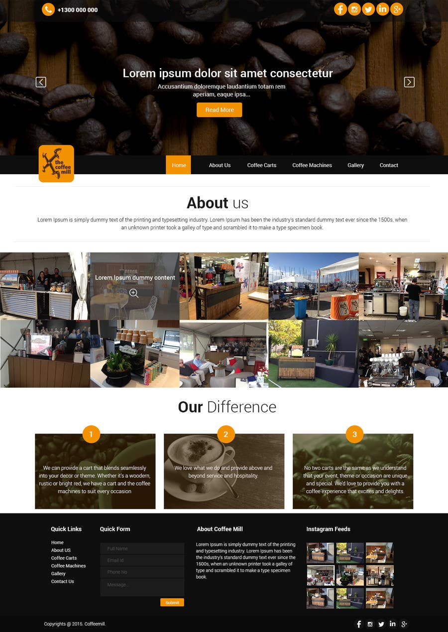 Konkurrenceindlæg #                                        26                                      for                                         Design a Website Mockup for a Mobile Coffee Business