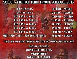 #3 para I need some Graphic Design for Tryout Schedule de kiryank