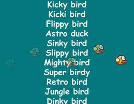 #116 para Name for flappy bird clone por consultantRdna