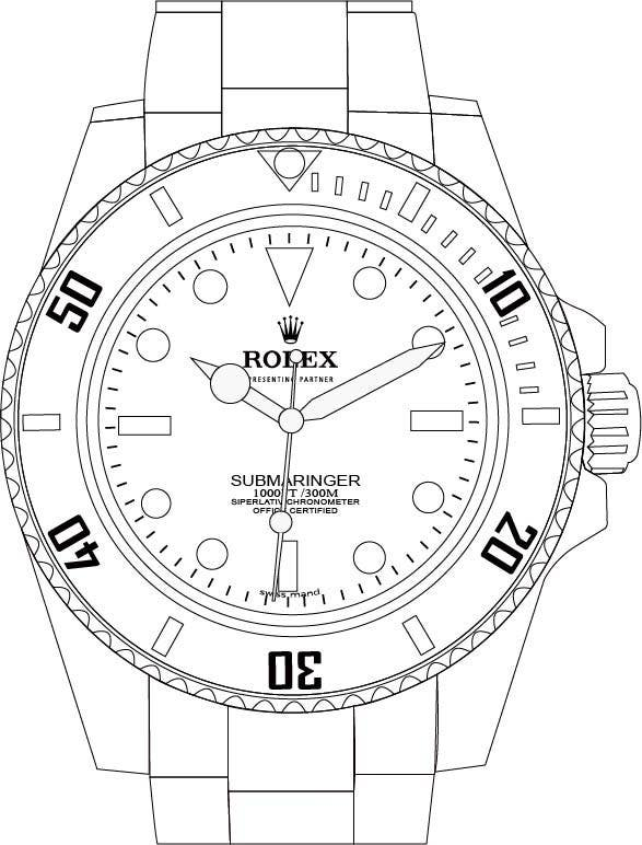 need to raw illustration of a rolex watch freelancer