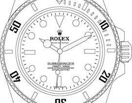 #13 cho Need to raw illustration of a Rolex watch bởi GhaithAlabid