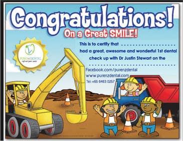 Nro 18 kilpailuun Illustrate Something for Kids Dental Certificate käyttäjältä mogado