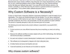 #56 cho assesment task: why is it essential custom software for seo companies bởi nayakvimal
